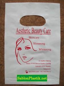 Sablon Plastik Plong Samarinda pesanan Aesthetic Beauty Care