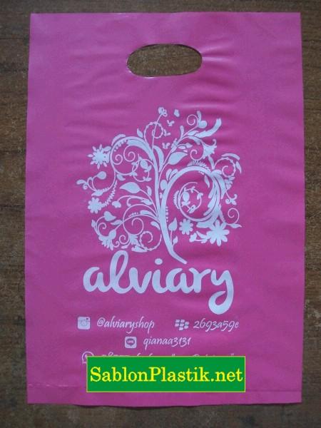 Sablon Plastik Plong Samarinda pesanan Alviary