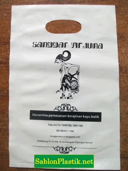 Sablon Plastik Plong Sanggar Arjuna di Bantul Yogyakarta