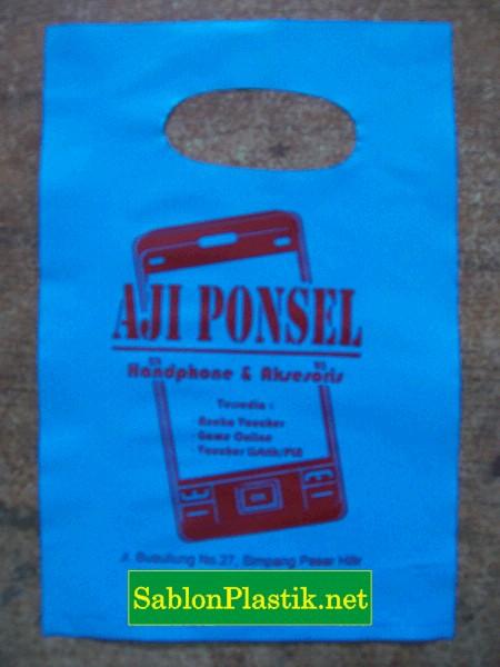 Sablon Plastik Plong Sanggau pesanan Aji Ponsel