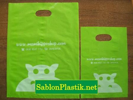 Sablon Plastik Plong Semarang pesanan Mamihippo Shop