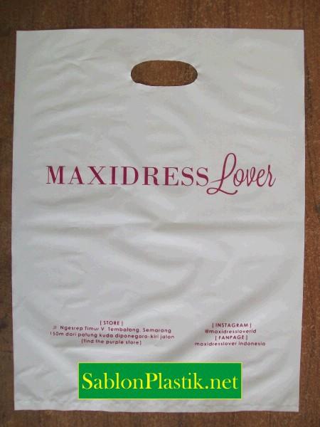Sablon Plastik Plong Semarang pesanan Maxidress