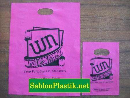 Sablon Plastik Plong Sumbawa pesanan WN