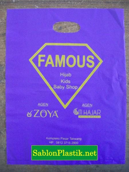 Sablon Plastik Plong Taliwang pesanan Famous