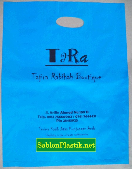 Sablon Plastik Plong Tara Boutique di Pekanbaru 1