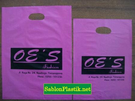 Sablon Plastik Plong Temanggung pesanan OE'S Butik