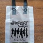 Sablon Plastik cangklong Sweet Butique pesanan dari Tomohon Manado