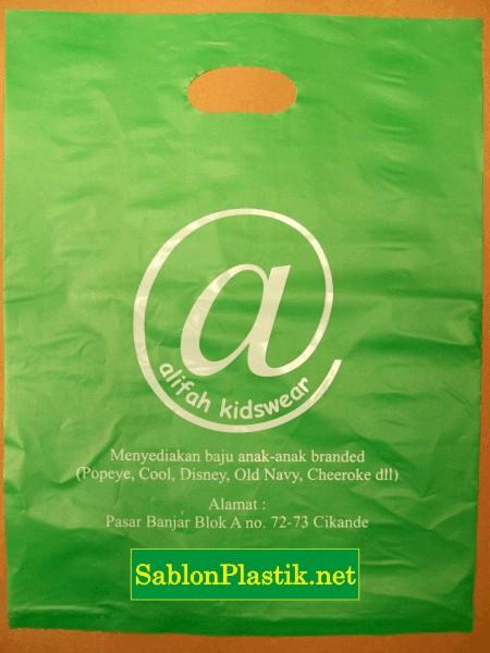 Sablon Plastik Alifah Kidwear Serang