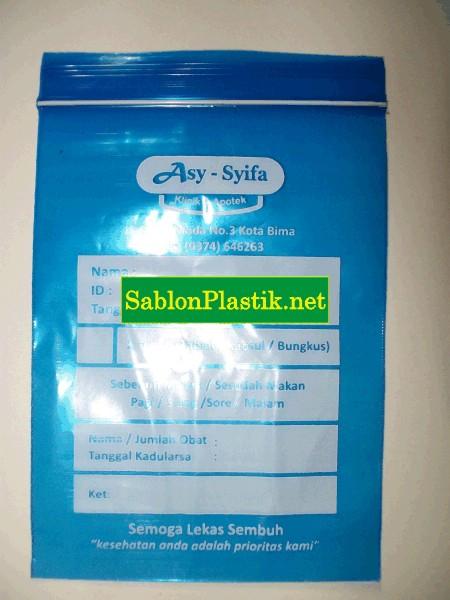 Sablon Plastik Apotek Asy - Syifa Bima NTB