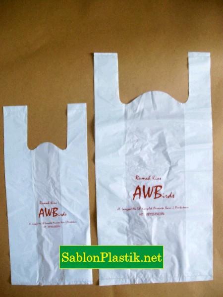 Sablon Plastik Aw Bird Sulawesi