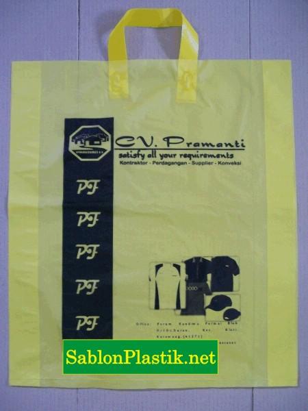 Sablon Plastik Cangklong Karawang pesanan CV.Pramanti