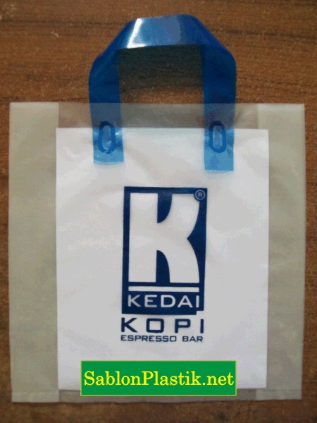 Sablon Plastik Cangklong Yogyakarta pesanan Kedai Kopi