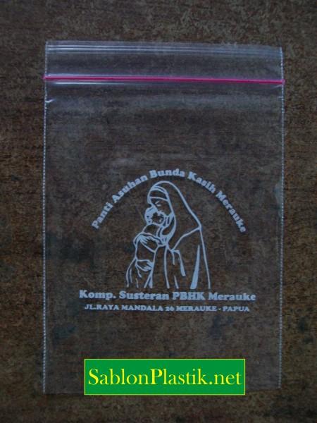 Sablon Plastik Klip Merauke pesanan Panti Asuhan Bunda Kasih Merauke