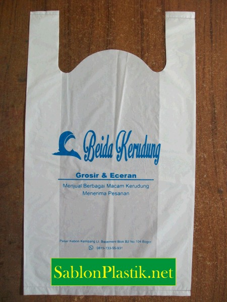 Sablon Plastik Kresek Bogor pesanan Beida Kerudung