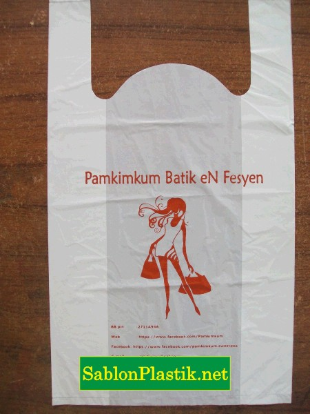 Sablon Plastik Kresek Jepara pesanan Butik Pamkimkum