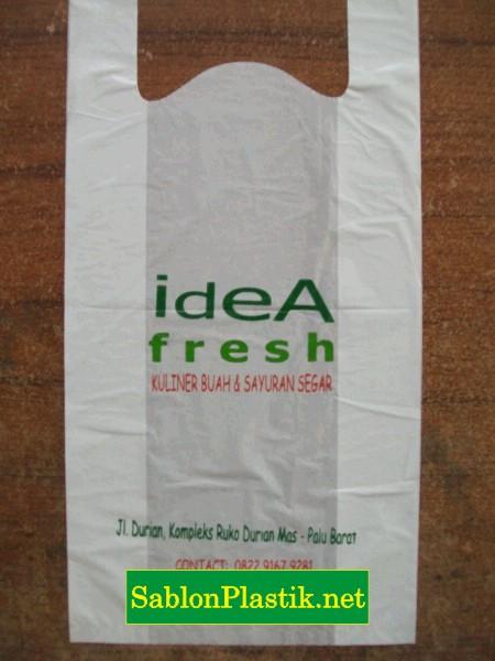 Sablon Plastik Kresek Palu pesanan Idea Fresh