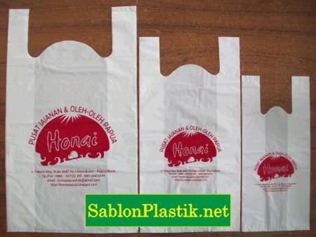 Sablon Plastik Kresek Papua pesanan Toko Honai