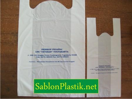 Sablon Plastik Kresek Yogyakarta pesanan Primkop Pegawai UPN Veteran