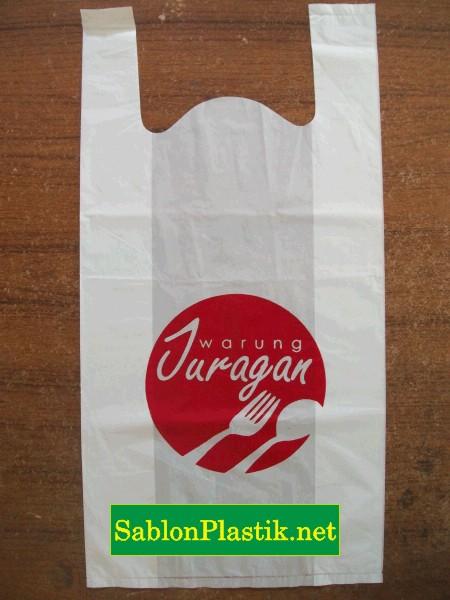 Sablon Plastik Kresek salatiga pesanan Warung Juragan