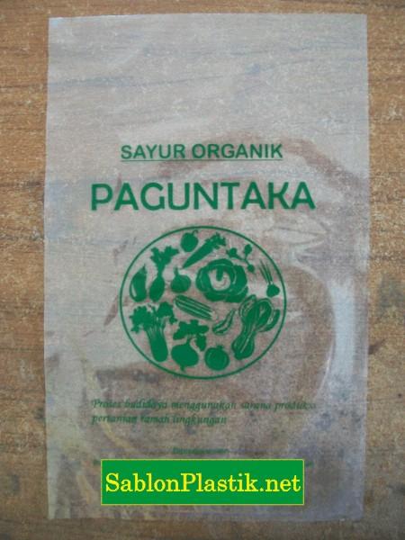Sablon Plastik PP Tarakan pesanan Sayur Organik Paguntaka
