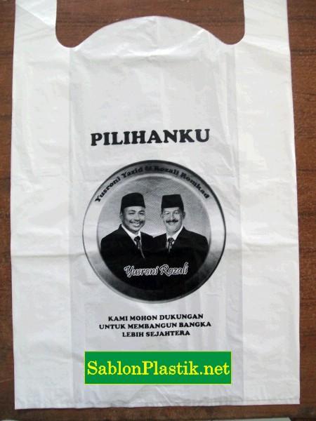 Sablon Plastik Pemilu 2014