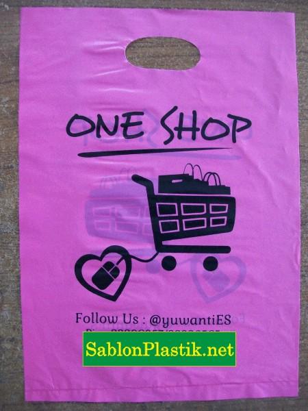 Sablon Plastik Plong Bandar Lampung pesanan One Shop