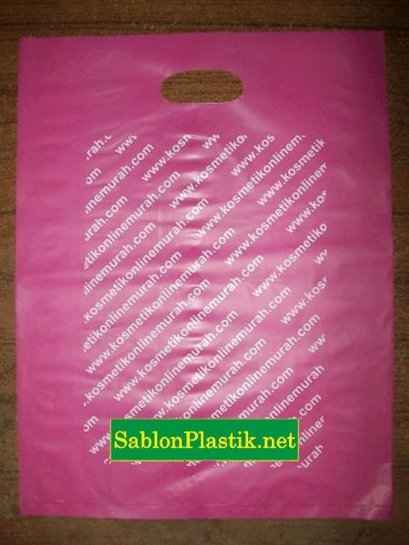 Sablon Plastik Plong Banjarnegara pesanan Kosmetik Online Murah