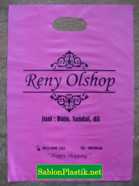 Sablon Plastik Plong Berau pesanan Reny Olshop