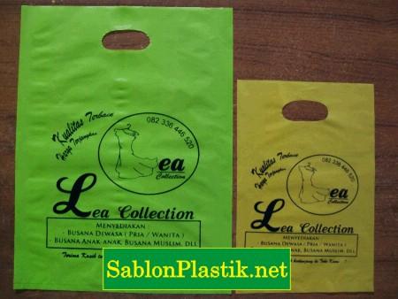 Sablon Plastik Plong Bondowoso pesanan Lea Collection
