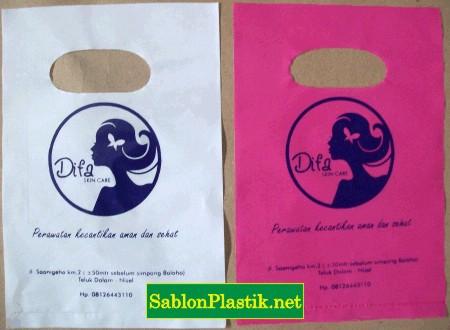 Sablon Plastik Plong Diva Skin care di Nias