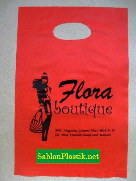 Sablon Plastik Plong Flora Boutique pesanan dari Minahasa Sulteng