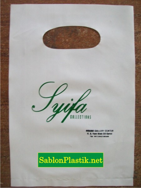 Sablon Plastik Plong Garut pesanan Shifa Colection