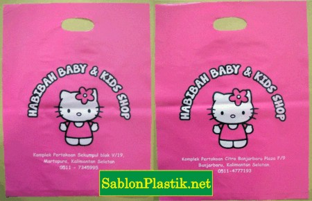 Sablon Plastik Plong Habibah Baby & Kids Shop di Martapura Dan Banjar Baru