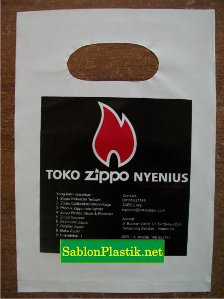 Sablon Plastik Plong Jakarta Pesanan Zippo