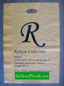 Sablon Plastik Plong Jember pesanan Rahayu Collection