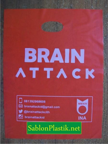 Sablon Plastik Plong Jogja pesanan Brain Attack