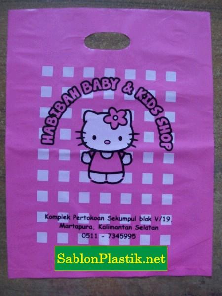 Sablon Plastik Plong Martapura pesanan Habibah Baby & Kids Shop