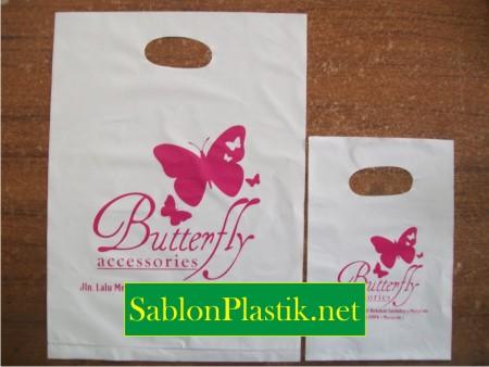 Sablon Plastik Plong Mataram pesanan Butterfly