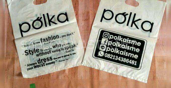 Sablon Plastik Plong Yogyakarta pesanan Polka