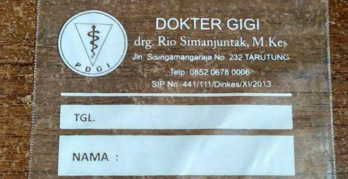 Sablon Plastik Klip Obat Tarutung, Tapanuli Utara pesanan Dokter Gigi