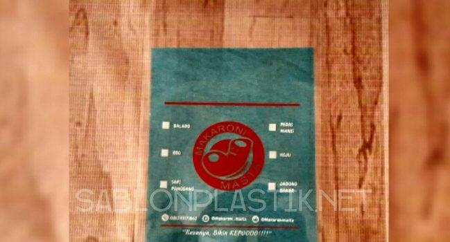 Sablon Plastik PP Yogyakarta pesanan Makaroni Masta