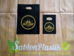 Sablon Plastik Plong Jambi pesanan Vape shop
